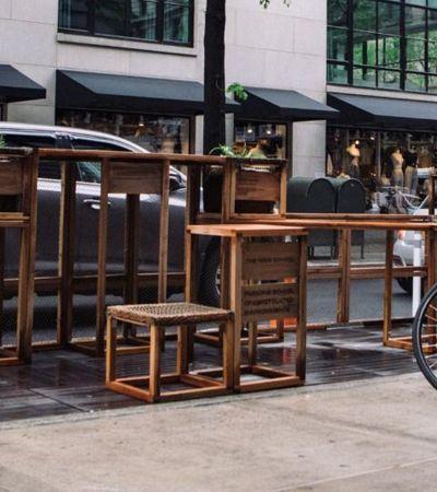 Estudantes de design criam mobiliário urbano de baixo custo com materiais reaproveitados