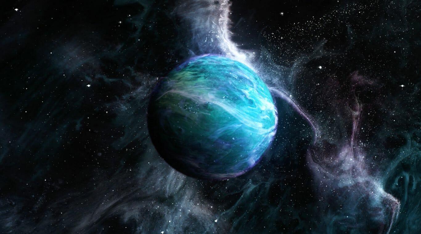Julia cria planetas imaginários em suas ilustrações