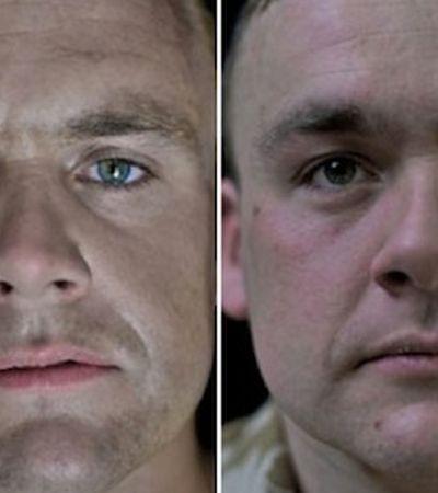 Série fotográfica mostra como a guerra afeta a fisionomia dos combatentes