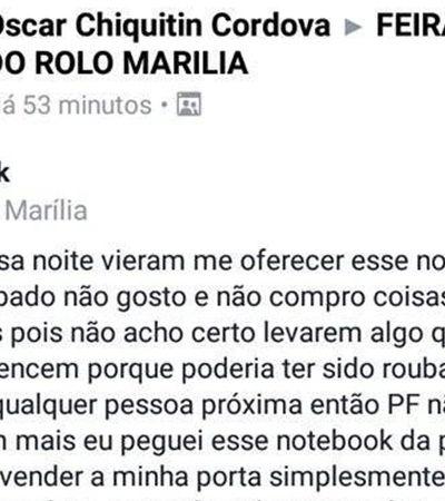 Estudante de Marília compra notebook roubado para entregar ao dono