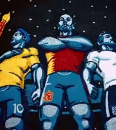 227 mil metros de linha e 600 frames: os detalhes da animação da BBC para a Copa