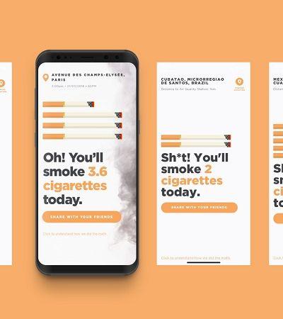 App mostra quantos cigarros você 'fuma' por dia com a poluição da sua cidade