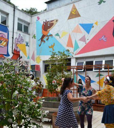 Artistas de rua levam graffiti ao jardim terapêutico de hospital infantil em SP