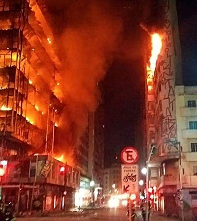 Incêndio SP: Já são mais de 15 toneladas de doações recebidas pela Cruz Vermelha