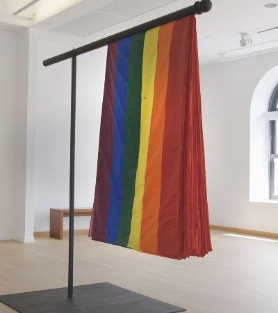 'O escudo do orgulho': Criaram uma bandeira LGBTQ à prova de balas