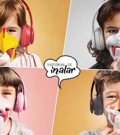 Projeto usa tempo de inalação e máscaras para contar histórias infantis