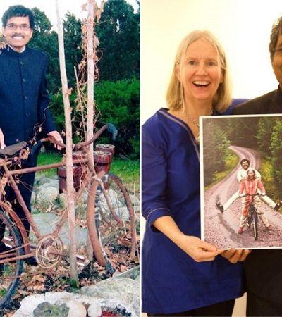 Há 40 anos, indiano trocou tudo por uma bike e pedalou 5 mil km para encontrar seu amor na Suécia