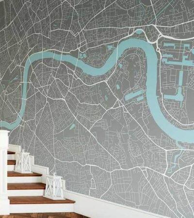 Empresa cria papéis de parede personalizados com mapas de cidades do mundo