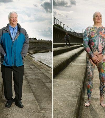 Fotógrafo retrata pessoas com e sem roupas para combater estereótipos sobre tatuagens