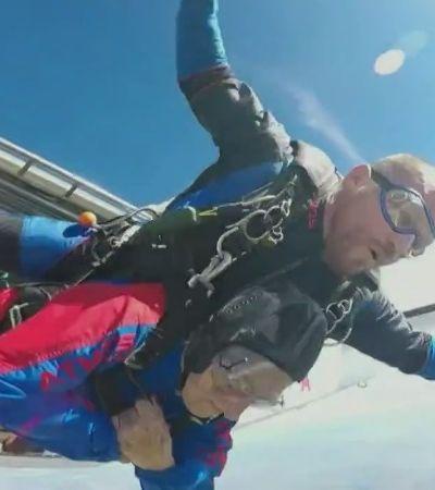 Após superar o câncer, tataravó de 89 anos salta de paraquedas: 'Sem palavras'