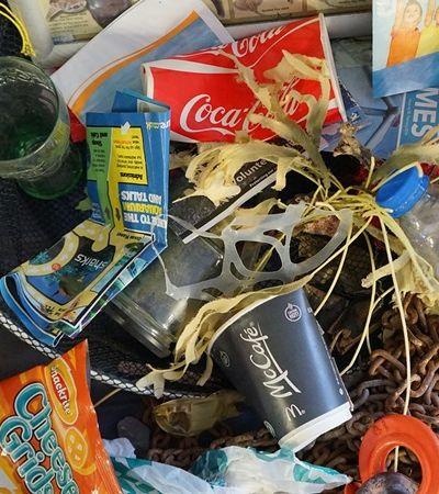 Sacola plástica é encontrada a 11 mil metros, no fundo do mar