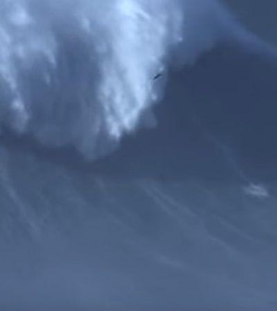 Surfista brasileiro pega onda de mais de 24 metros, a maior da história
