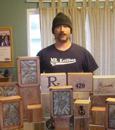 Artista transforma pontas de cigarros de maconha em mosaicos chapantes