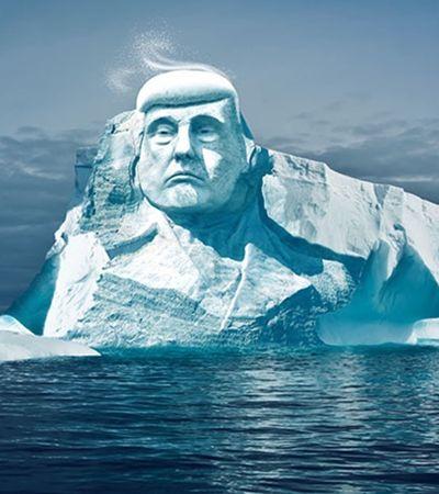 Contra aquecimento global, grupo quer esculpir rosto de Trump em estátua de gelo gigante