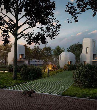 Holanda terá casas sustentáveis de concreto feitas em impressora 3D