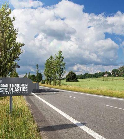 Empresa do Reino Unido constrói estradas com plástico retirado do oceano