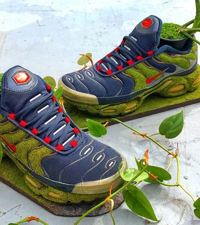 Artista japonês transforma tênis Nike antigos em vasos para plantas