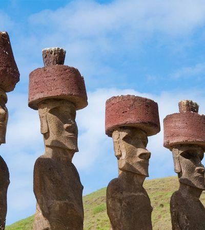 Novo estudo 'descobre' como os 'chapéus' das estátuas gigantes da Ilha de Páscoa foram colocados