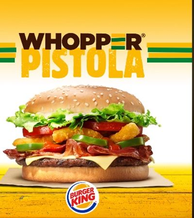 Whopper Pistola: Burger King embarca no sucesso do mascote da seleção