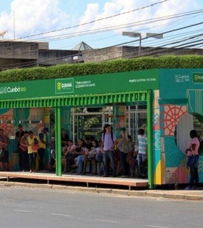 Cuiabá terá pontos de ônibus de contêiner com jardim suspenso e energia solar