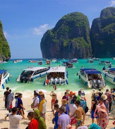 Por que a praia do filme 'A Praia' teve que ser fechada para turistas?
