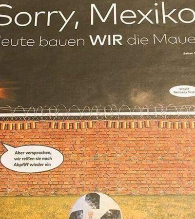 Jornal alemão fez anúncio ofensivo dando como certa vitória contra o México