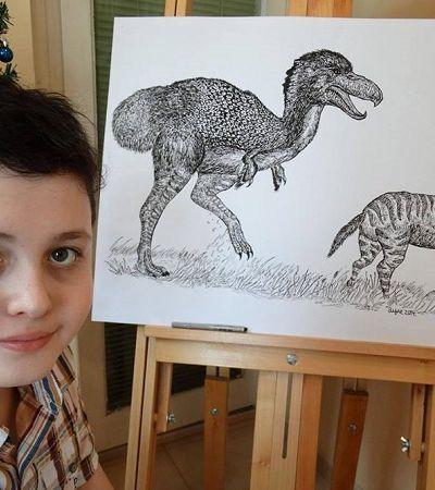 Garoto de 15 anos memoriza e desenha animais e eles ficam ainda mais incríveis que os reais