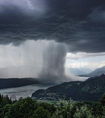 'Como se um tsunami surgisse no céu', alpinista grava fenômeno impressionante