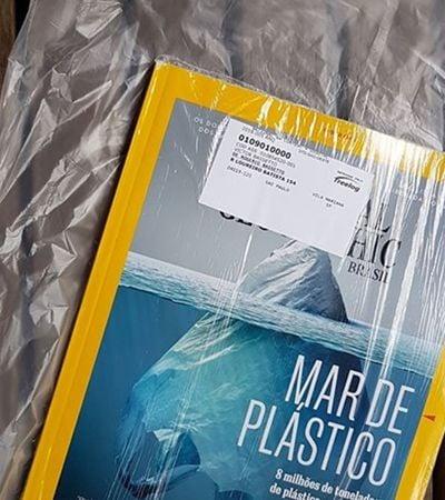 As pessoas estão sem entender a entrega da National Geographic contra o plástico