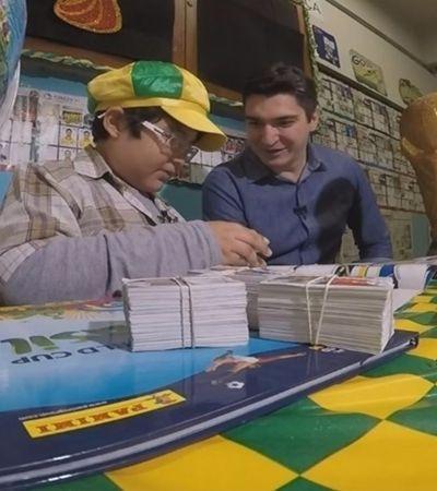 Voluntários querem presentear menino que desenhou figurinhas da Copa por não ter dinheiro