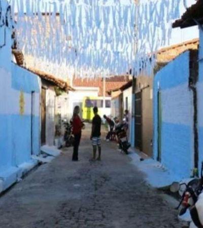 Como protesto, moradores de Teresina pintam rua com cores da Argentina