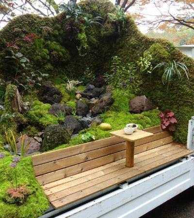 Japoneses transformam caminhões em jardins numa competição e o resultado é impressionante