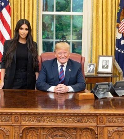 Kim Kardashian consegue que Trump libere senhora condenada por prisão perpétua por repassar drogas