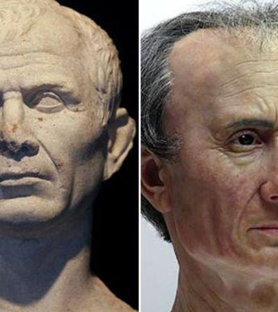 Reconstrução 3D mostra como era rosto do imperador romano Júlio César