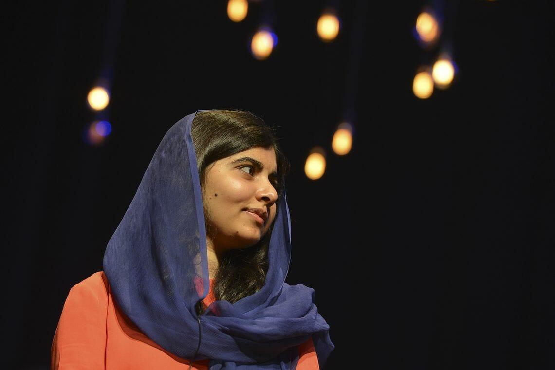 Evento com Malala lotou o Auditório Ibirapuera, em São Paulo