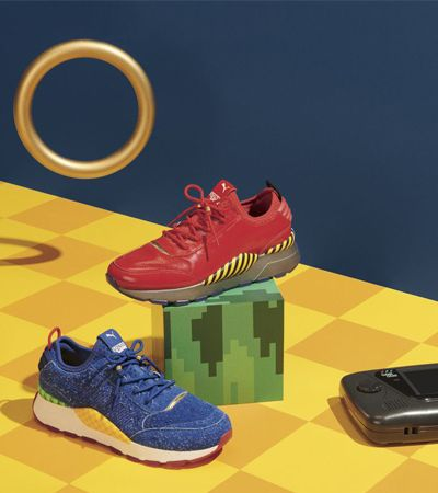 Puma cria tênis inspirado em Sonic e nos joga de volta aos anos 1990