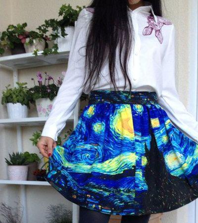 Criaram uma saia com a estampa de 'Noite Estrelada', obra-prima de Van Gogh
