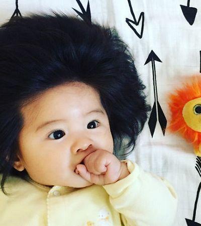 O cabelo desta garotinha fez com ela conquistasse mais de 100 mil seguidores no Instagram