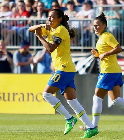 Marta marca e Brasil se aproxima de classificação no Torneio das Nações