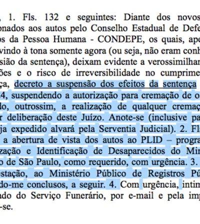 Justiça impede incineração em massa de 1.600 ossadas humanas não identificadas em SP