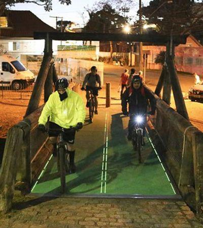 Piso de ciclovia que gera energia começa a ser testado Curitiba