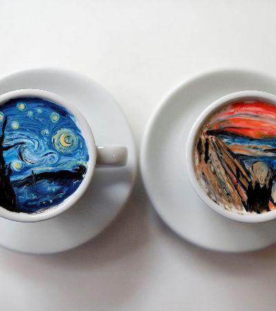 Cappucino 'O grito'? 16 imagens que deixam claro que café pode ser uma forma de arte