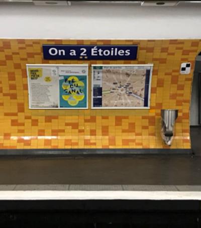 'Bercy les Bleus', metrô de Paris faz trocadilho com conquista do bicampeonato na Rússia