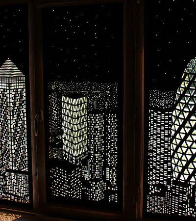 Como transformar sua janela numa misteriosa paisagem noturna