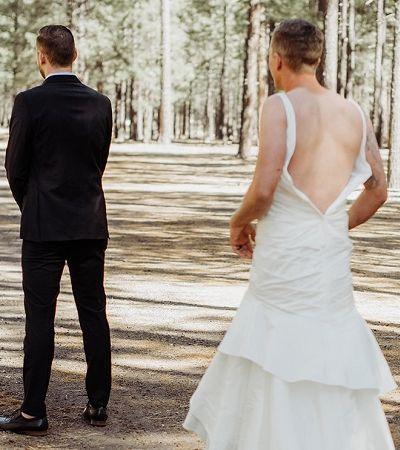 Noiva manda irmão em seu lugar para o 'first look' e a reação do noivo é a melhor possível