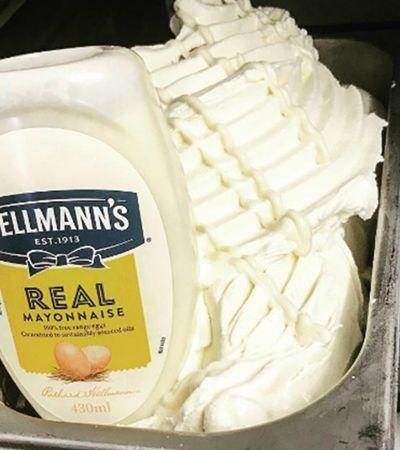 Inventaram mesmo um sorvete de maionese. Você não entendeu errado