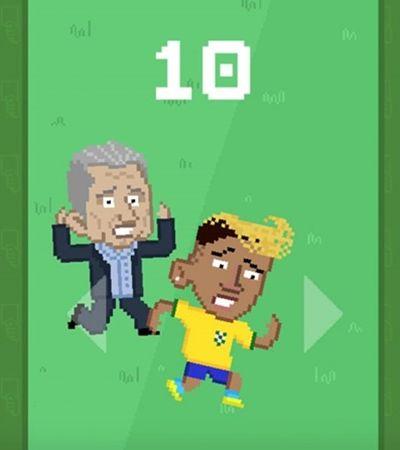 Ney Boy, o jogo onde que você é desafiado a impedir que Neymar se jogue ao chão