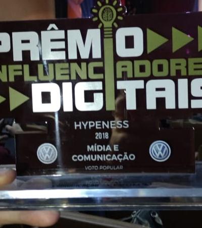 Hypeness vence pela terceira vez o Prêmio Influenciadores Digitais