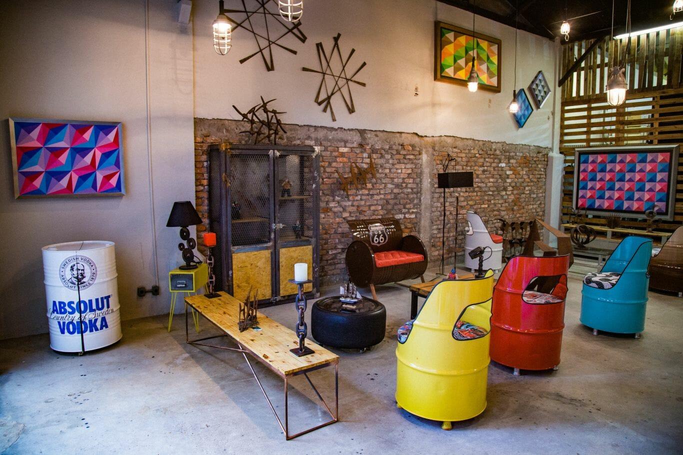 O showroom do Espaço InSana apresenta as criações que trabalham o conceito de upcycling