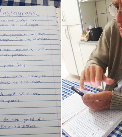 Vovô aprende usar Instagram com neto e empresa de café dele começa a bombar